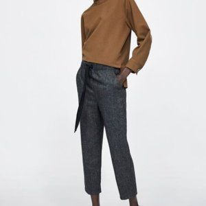 Zara HERRINGBONE PANTS Size M - New without tags